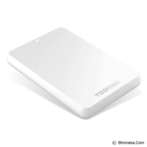 TOSHIBA Canvio Basic 3.0 Portable Hard Drive 500GB [HDTB305AW3AA] - White - Hard Disk External 2.5 Inch